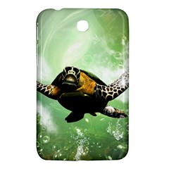 Beautiful Seaturtle With Bubbles Samsung Galaxy Tab 3 (7 ) P3200 Hardshell Case