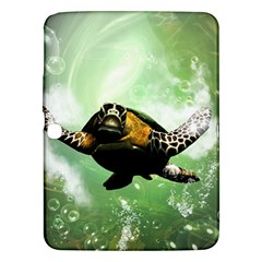 Beautiful Seaturtle With Bubbles Samsung Galaxy Tab 3 (10.1 ) P5200 Hardshell Case