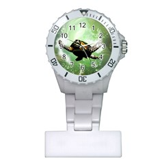 Beautiful Seaturtle With Bubbles Nurses Watches