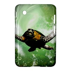 Beautiful Seaturtle With Bubbles Samsung Galaxy Tab 2 (7 ) P3100 Hardshell Case