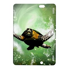 Beautiful Seaturtle With Bubbles Kindle Fire HDX 8.9  Hardshell Case
