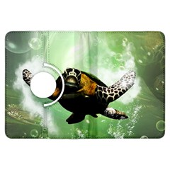 Beautiful Seaturtle With Bubbles Kindle Fire HDX Flip 360 Case
