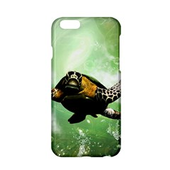 Beautiful Seaturtle With Bubbles Apple iPhone 6/6S Hardshell Case