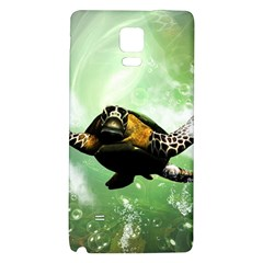 Beautiful Seaturtle With Bubbles Galaxy Note 4 Back Case