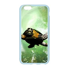 Beautiful Seaturtle With Bubbles Apple Seamless iPhone 6/6S Case (Color)