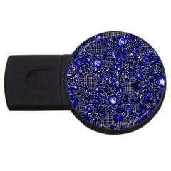 Sci Fi Fantasy Cosmos Blue USB Flash Drive Round (1 GB)
