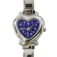 Sci Fi Fantasy Cosmos Blue Heart Italian Charm Watch