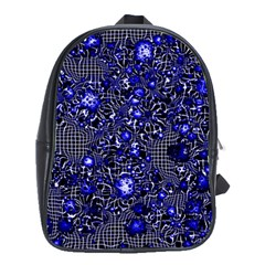 Sci Fi Fantasy Cosmos Blue School Bags(Large)