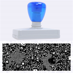 Sci Fi Fantasy Cosmos Blue Rubber Address Stamps (XL)
