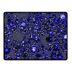 Sci Fi Fantasy Cosmos Blue Double Sided Fleece Blanket (small)