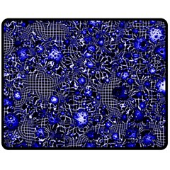 Sci Fi Fantasy Cosmos Blue Double Sided Fleece Blanket (medium)
