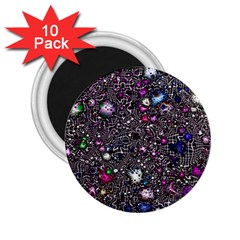 Sci Fi Fantasy Cosmos Pink 2.25  Magnets (10 pack)
