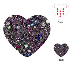 Sci Fi Fantasy Cosmos Pink Playing Cards (Heart)