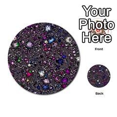 Sci Fi Fantasy Cosmos Pink Multi Purpose Cards (round)