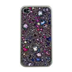 Sci Fi Fantasy Cosmos Pink Apple iPhone 4 Case (Clear)