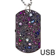 Sci Fi Fantasy Cosmos Pink Dog Tag USB Flash (One Side)