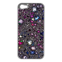 Sci Fi Fantasy Cosmos Pink Apple iPhone 5 Case (Silver)