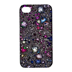 Sci Fi Fantasy Cosmos Pink Apple iPhone 4/4S Hardshell Case with Stand