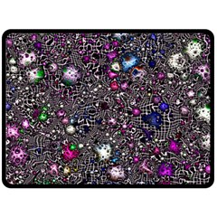 Sci Fi Fantasy Cosmos Pink Double Sided Fleece Blanket (large)