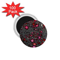 Sci Fi Fantasy Cosmos Red  1.75  Magnets (100 pack)