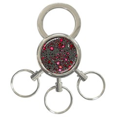 Sci Fi Fantasy Cosmos Red  3-Ring Key Chains