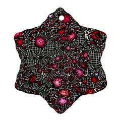 Sci Fi Fantasy Cosmos Red  Ornament (snowflake)