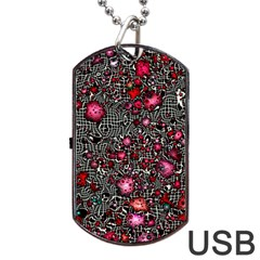 Sci Fi Fantasy Cosmos Red  Dog Tag Usb Flash (one Side)