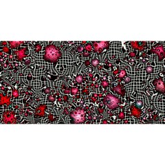 Sci Fi Fantasy Cosmos Red  You Are Invited 3d Greeting Card (8x4)