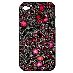 Sci Fi Fantasy Cosmos Red  Apple iPhone 4/4S Hardshell Case (PC+Silicone)
