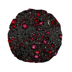 Sci Fi Fantasy Cosmos Red  Standard 15  Premium Flano Round Cushions