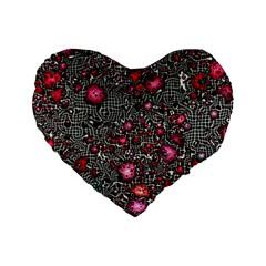 Sci Fi Fantasy Cosmos Red  Standard 16  Premium Flano Heart Shape Cushions
