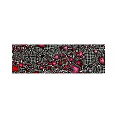 Sci Fi Fantasy Cosmos Red  Satin Scarf (Oblong)