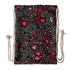 Sci Fi Fantasy Cosmos Red  Drawstring Bag (Large)