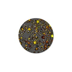 Sci Fi Fantasy Cosmos Yellow Golf Ball Marker (10 pack)