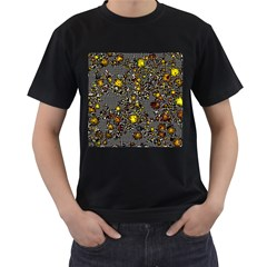 Sci Fi Fantasy Cosmos Yellow Men s T-Shirt (Black)