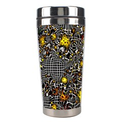 Sci Fi Fantasy Cosmos Yellow Stainless Steel Travel Tumblers
