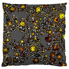 Sci Fi Fantasy Cosmos Yellow Large Flano Cushion Cases (One Side)