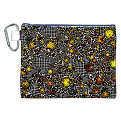 Sci Fi Fantasy Cosmos Yellow Canvas Cosmetic Bag (XXL)