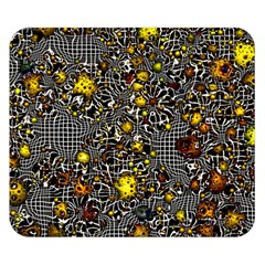 Sci Fi Fantasy Cosmos Yellow Double Sided Flano Blanket (Small)