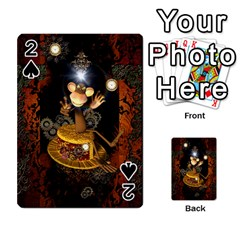 Steampunk, Funny Monkey With Clocks And Gears Playing Cards 54 Designs