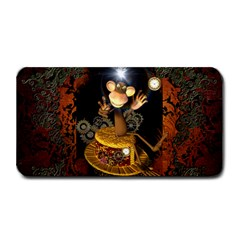 Steampunk, Funny Monkey With Clocks And Gears Medium Bar Mats