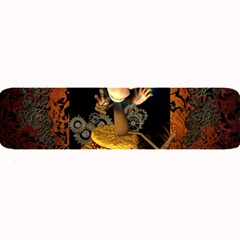 Steampunk, Funny Monkey With Clocks And Gears Large Bar Mats