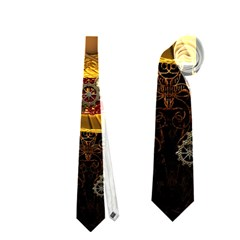 Steampunk, Funny Monkey With Clocks And Gears Neckties (one Side)
