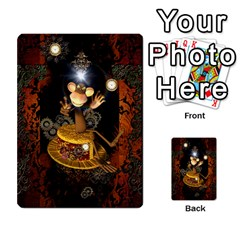 Steampunk, Funny Monkey With Clocks And Gears Multi Purpose Cards (rectangle)
