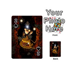 Steampunk, Funny Monkey With Clocks And Gears Playing Cards 54 (Mini)