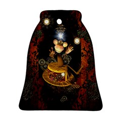 Steampunk, Funny Monkey With Clocks And Gears Ornament (bell)
