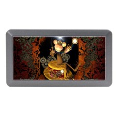 Steampunk, Funny Monkey With Clocks And Gears Memory Card Reader (Mini)