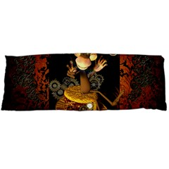 Steampunk, Funny Monkey With Clocks And Gears Body Pillow Cases Dakimakura (Two Sides)