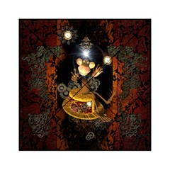 Steampunk, Funny Monkey With Clocks And Gears Acrylic Tangram Puzzle (6  x 6 )