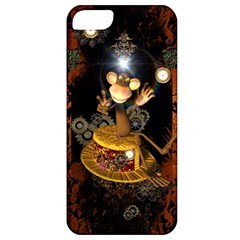 Steampunk, Funny Monkey With Clocks And Gears Apple iPhone 5 Classic Hardshell Case